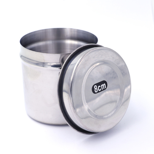 Stainless Steel Medical Alcohol Cotton Cylinder